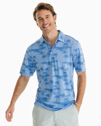 Southern Tide Palm Print Driver Performance Polo Shirt
