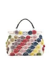 Fendi Peekaboo Mini Floral Canvas Satchel Bag, Multi
