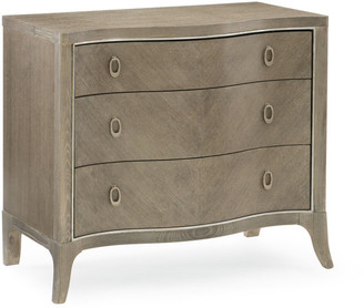 Caracole Compositions Ash Three Drawer Nightstand