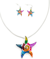 Colorful Dreams Starfish Necklace & Earrings