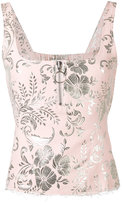 Marques Almeida Marques'almeida - sleeveless floral top - women - Cotton/Polyester/Acetate/Cupro - XS