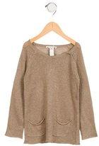 Bonpoint Girls' Open Knit Linen Sweater