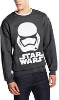 Star Wars Men's VII Stormtrooper Helmet White Long Sleeve Sweatshirt