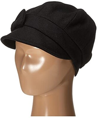 San Diego Hat Company SDH3404 Wool Cap with Self Fabric Bow (Black) Caps