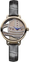 Vivienne Westwood Ladbroke II Women's Quartz Watch with Rose Gold Dial Analogue Display and Grey Leather Strap VV076RSGY