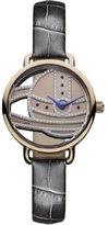 Vivienne Westwood Women's VV076RSGY Gainsbourgh Analog Display Swiss Quartz Black Watch