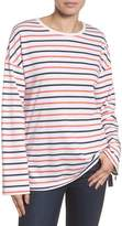 Caslon Lace-Up Side Sweatshirt