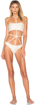 Lenny Niemeyer Runway Bottom in Ivory. - size L (also in M)