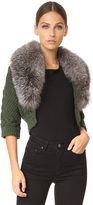 Yigal Azrouel Bolero Sweater with Fur Trim