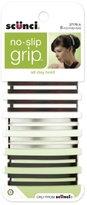 Scunci No-slip Grip Open Center Stay Tight Barrettes, 6-Count