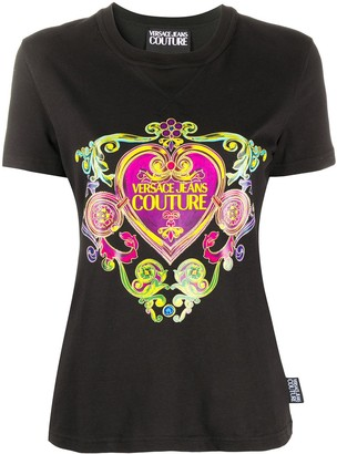 Versace Jeans Couture baroque heart print T-shirt