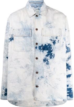 Off-White Bleached Effect Denim Shirt