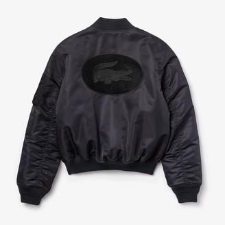 Lacoste Unisex LIVE Oversized Contrast Bomber Jacket