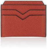 Valextra Men's Flat Card Case-RED