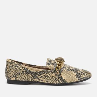 Kurt Geiger Women's Chelsea Snake Print Loafers - Black/Grey