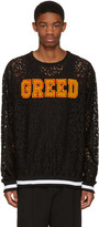 Pyer Moss Ssense Exclusive Black Lace greed Pullover