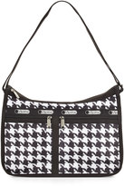 Le Sport Sac Deluxe Houndstooth-Print Everyday Bag, Chic Noir