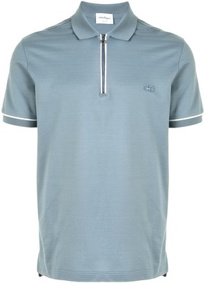 Salvatore Ferragamo Zipped Polo Shirt