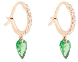 Raphaele Canot Set Free Diamond, Tsavorite & 18kt Gold Earrings - Green Multi