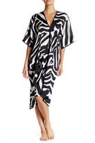 Natori Zebra Dolman Caftan Nightgown