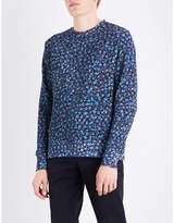 Ps By Paul Smith Blue Ribbed Sweatshirt