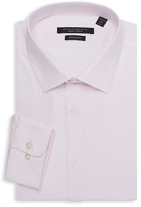 John Varvatos Spencer Regular-Fit Print Dress Shirt