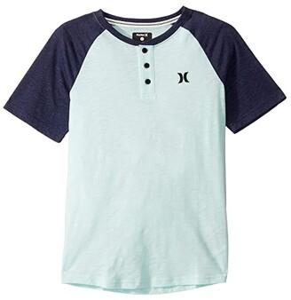 Hurley Marled Raglan Short Sleeve T-Shirt (Big Kids) (Teal Tint) Boy's Clothing