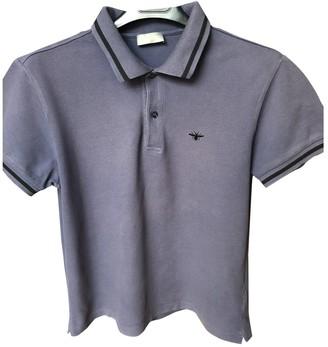 Christian Dior Purple Cotton Polo shirts