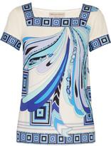 Emilio Pucci Printed silk-jersey top