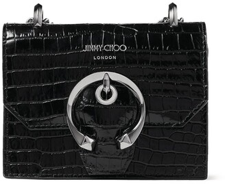Jimmy Choo Mini Croc-Embossed Leather Paris Cross-Body Bag