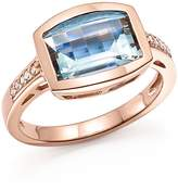 Bloomingdale's Aquamarine and Diamond Statement Ring in 14K Rose Gold - 100% Exclusive