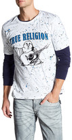 True Religion Splatter Crew Neck Tee
