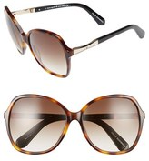 Kate Spade Women's Jolyn 58Mm Sunglasses - Black/ Gold