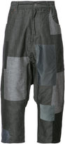 Mostly Heard Rarely Seen patchwork cropped pants - men - Cotton - 30