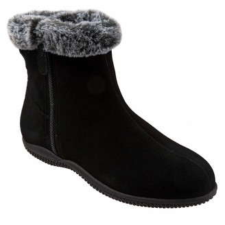 SoftWalk Women's Helena Ankle Boot Black Suede 11.0 M US