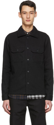Naked and Famous Denim Black Oxford Work Shirt