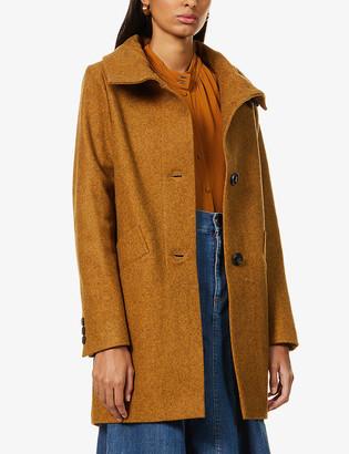 Sessun Chera high-neck recycled wool-blend coat