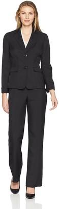 Le Suit LeSuit Women's Glazed Melange 2 BTN Notch Collar Pant Suit