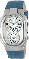 "Philip Stein Teslar Women's 2-SIL-OBL ""Signature"" Stainless Steel Watch with Leather Band"