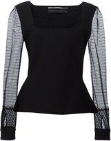 Roland Mouret 'Caxton' blouse - women - Elastodiene/Polyamide/Polyester/Viscose - S