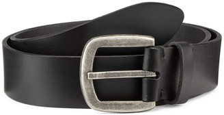 Saks Fifth Avenue COLLECTION Burnished Buckle Leather Belt