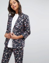 Miss Selfridge Floral Jacquard Blazer Co-ord