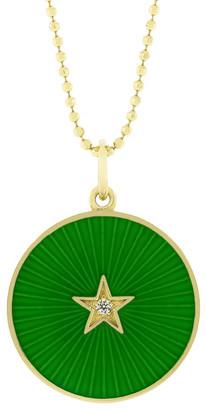 Andrea Fohrman Green Enamel Star Necklace