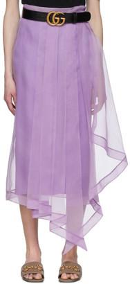 Gucci Purple Silk Organdy Skirt