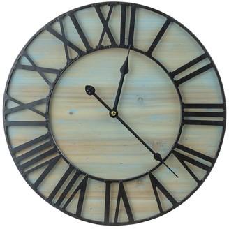 Sorbus Metal & Wood Wall Clock