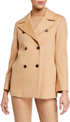 Agnona Cashmere Double-Breasted Pea Coat