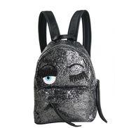 Chiara Ferragni Backpack Flirting Glitter Dark Silver