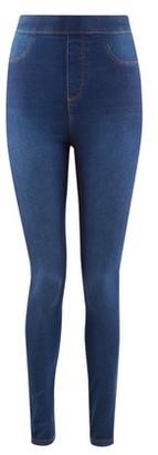 Dorothy Perkins Womens Blue 'Eden' High Waisted Super Soft Jeggings, Blue