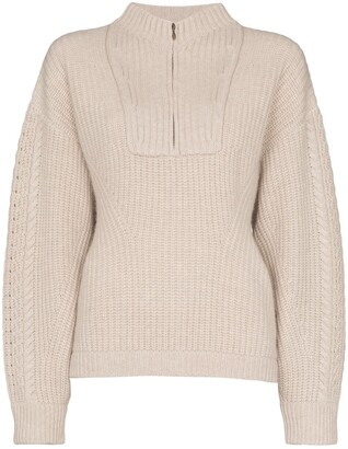 Le Kasha Half Zip Knit Jumper