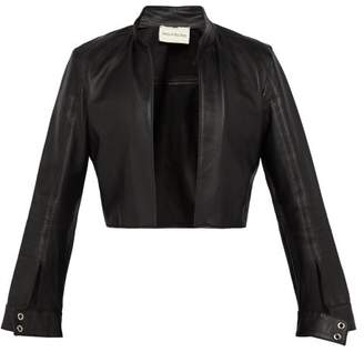 Ludovic De Saint Sernin - Cropped Leather Jacket - Mens - Black